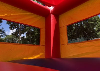 Multi Color Crayola Bounce House Red Tarp Roof