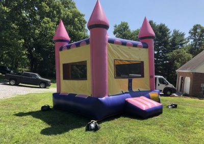 Pink Castle Bounce House Side