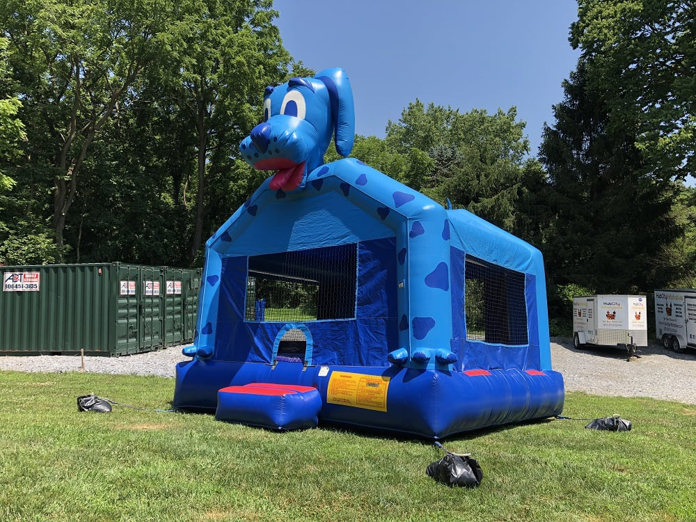 Blue Dog Inflatable - Front