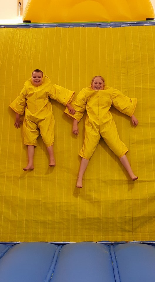 Kids on Velcro Wall